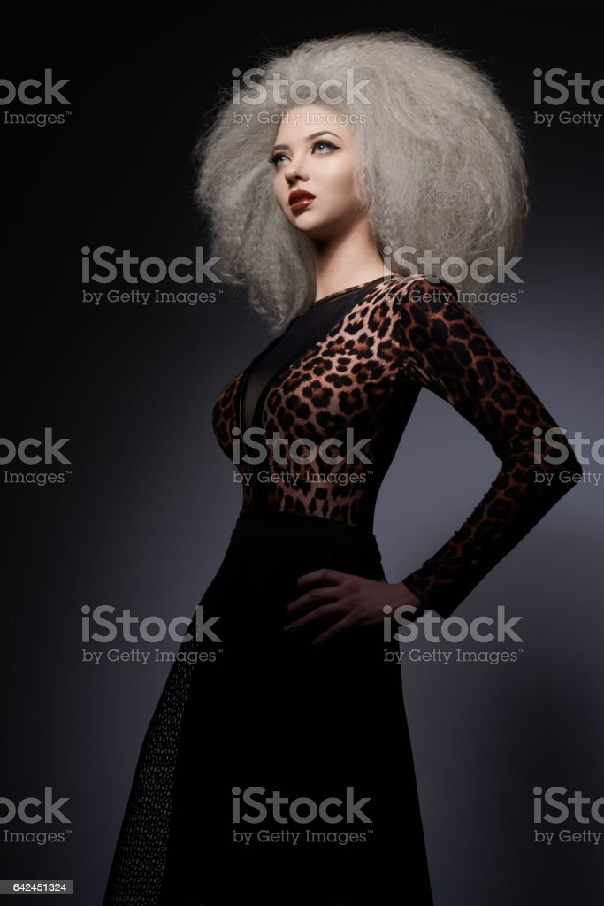 glamour woman in studio stock photo