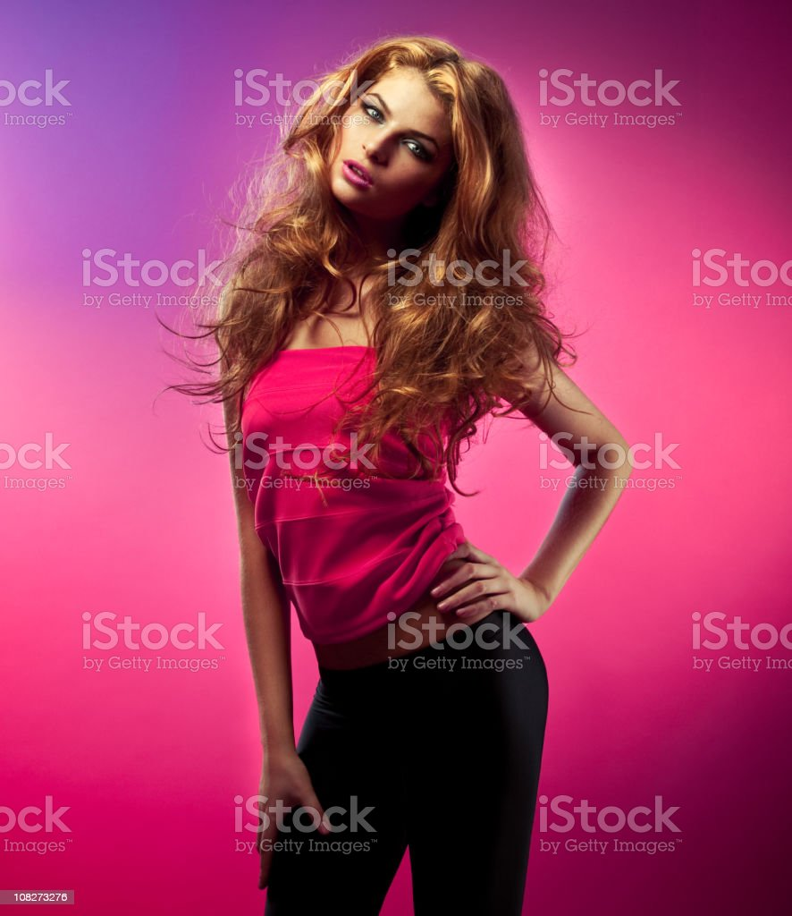 Glamour woman portrait royalty-free stock photo