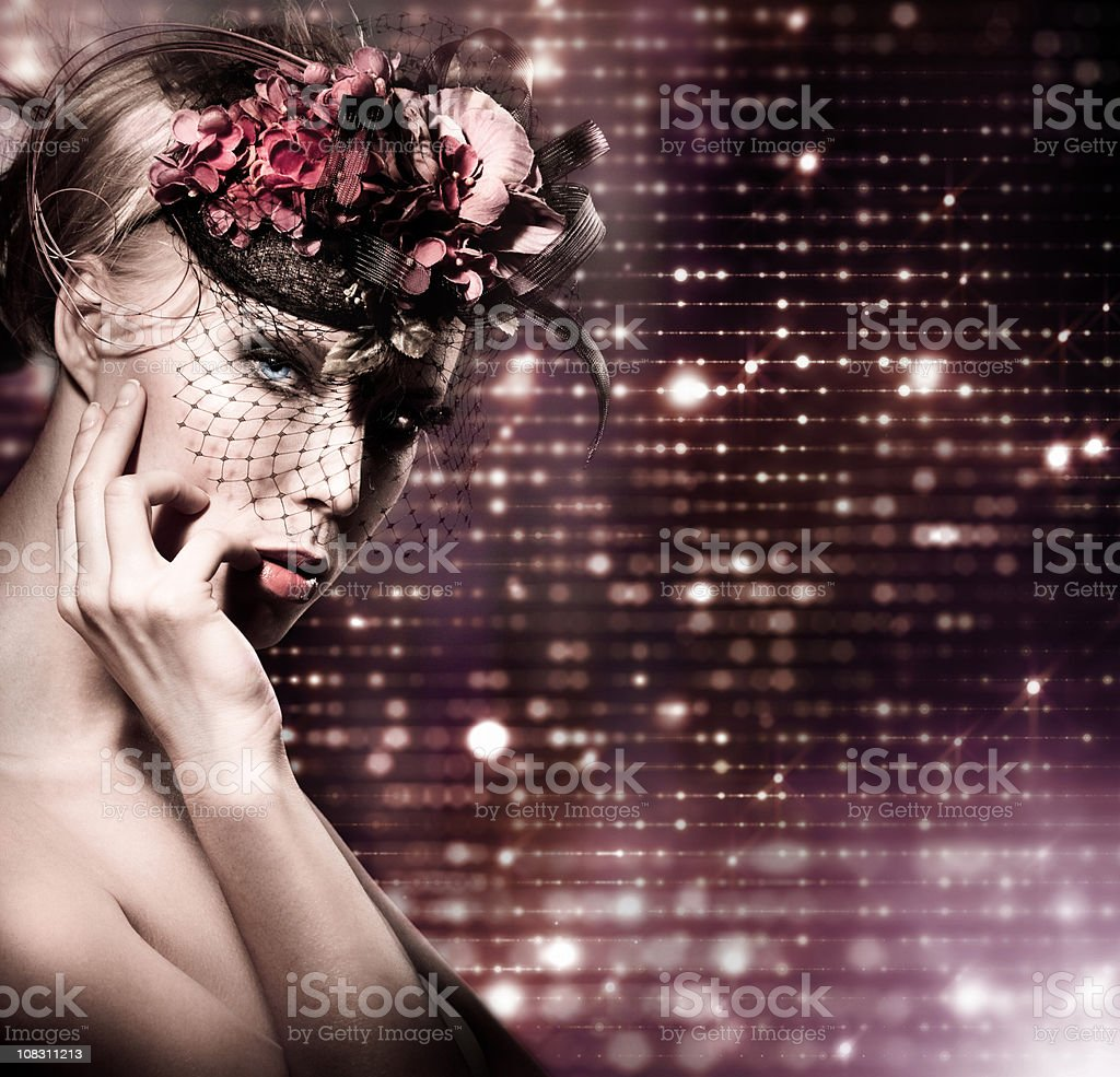 Glamour woman portrait royalty-free stock photo