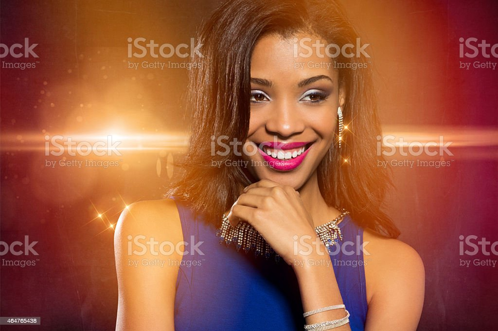Glamour woman smiling stock photo
