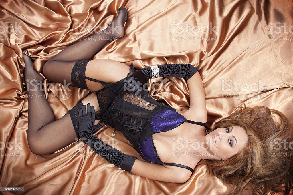 Glamourish Temptation royalty-free stock photo