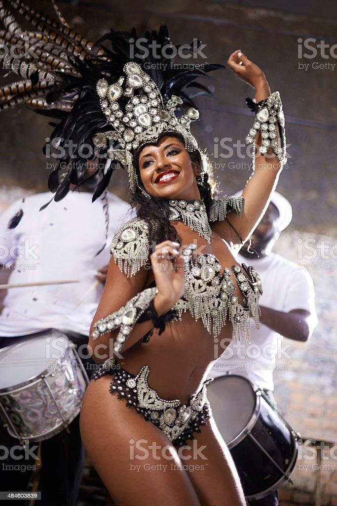 Glamourous dancing queen! stock photo