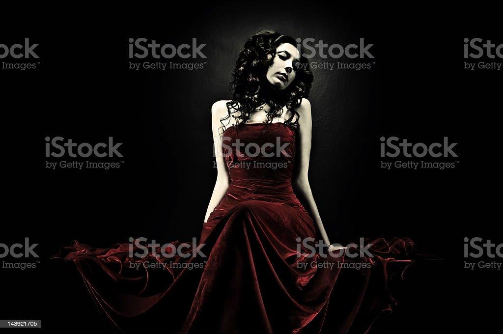 Glamourous gothic girl stock photo