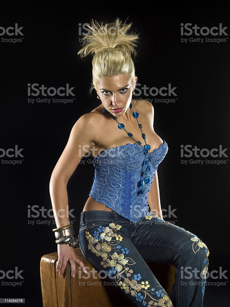 Glamourous traveler royalty-free stock photo