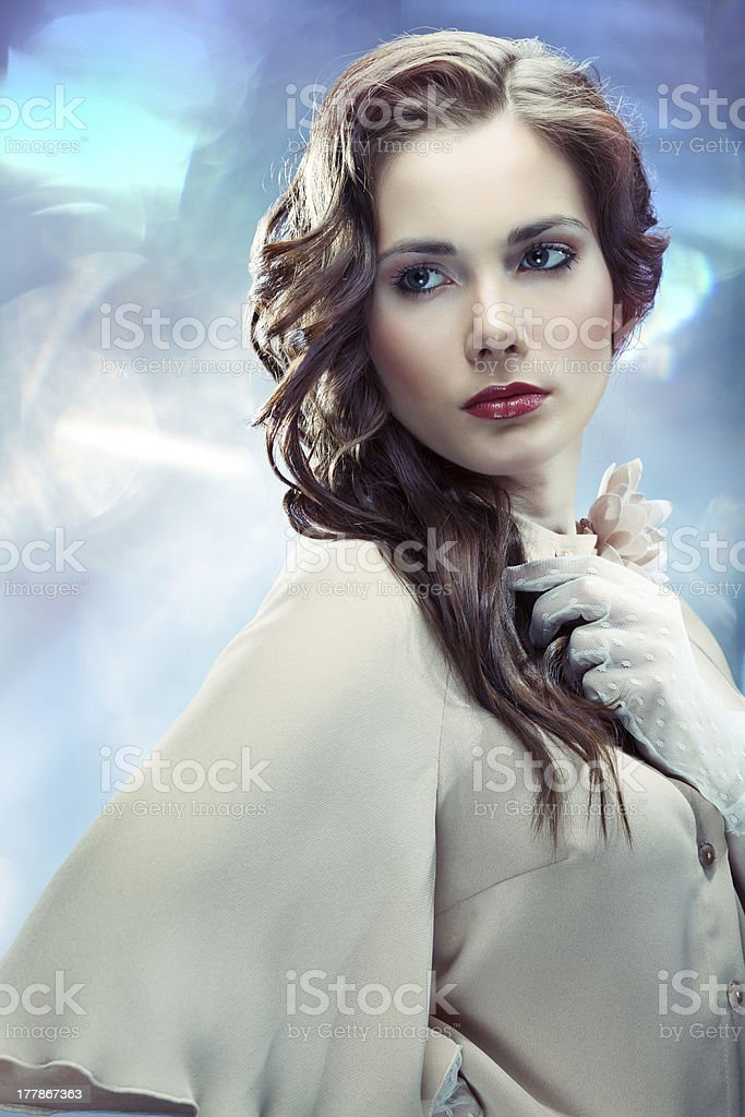 Glamourous young woman stock photo