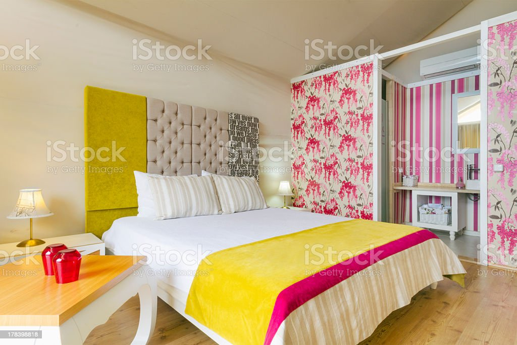 Glamping Room stock photo