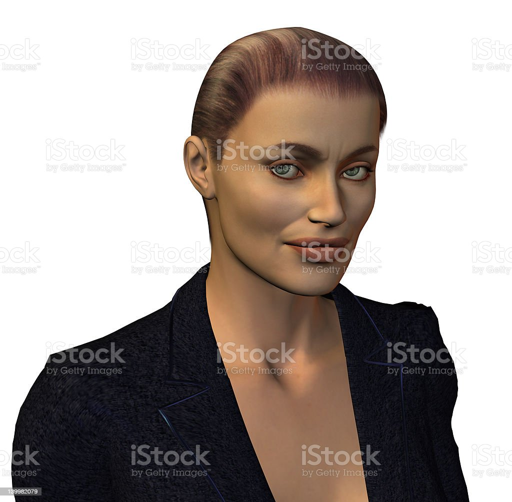 Glare of Disgust royalty-free stock photo