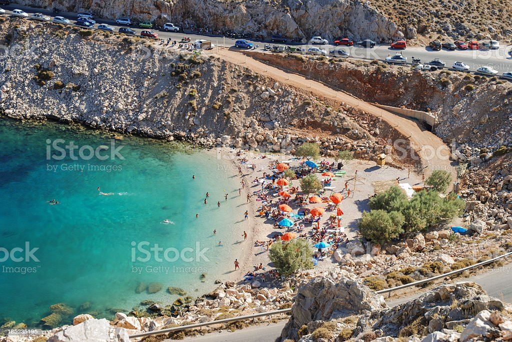Glari beach, Chios stock photo