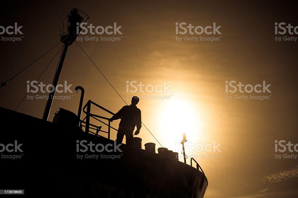 glaring boat royalty-free stock photo