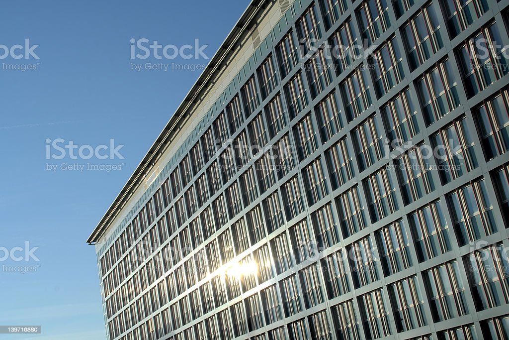 glas and steel front stock photo