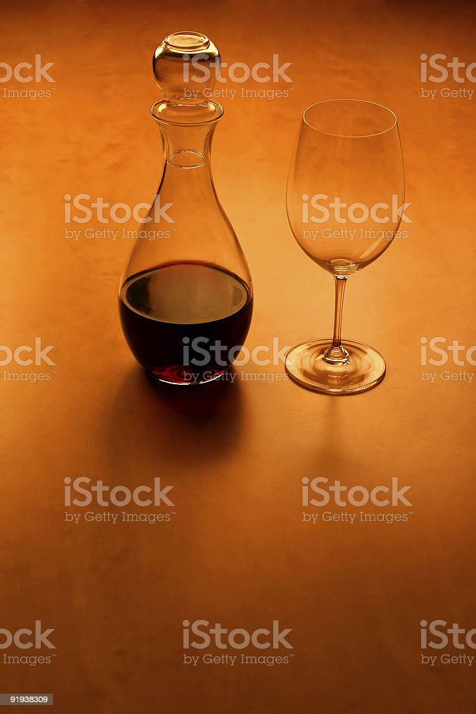 Glas and wine - serie (with copy space) royalty-free stock photo