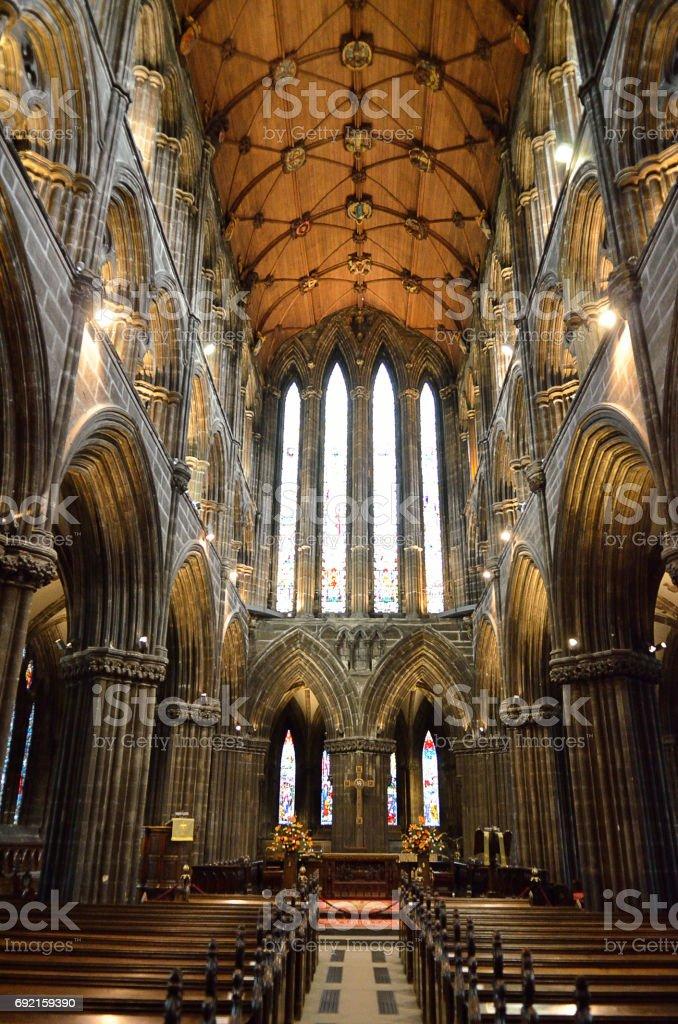 Glasgow cathedral aka High Kirk of Glasgow or St Kentigern or St Mungo stock photo