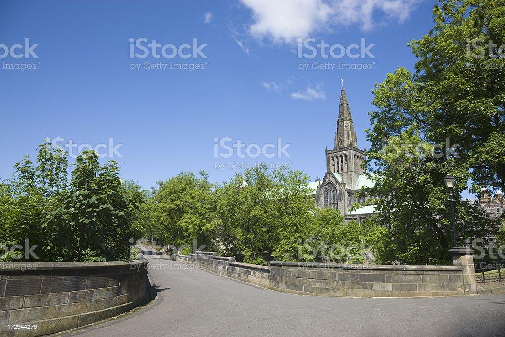 Glasgow Cathedral And Molendinar Bridge royalty-free stock photo