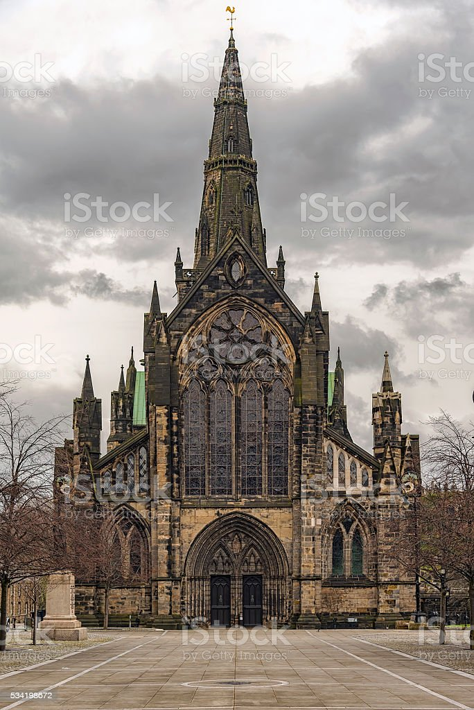 Glasgow Cathedral Front Entrance stock photo