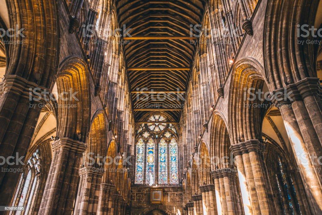 Glasgow Cathedral Interior stock photo