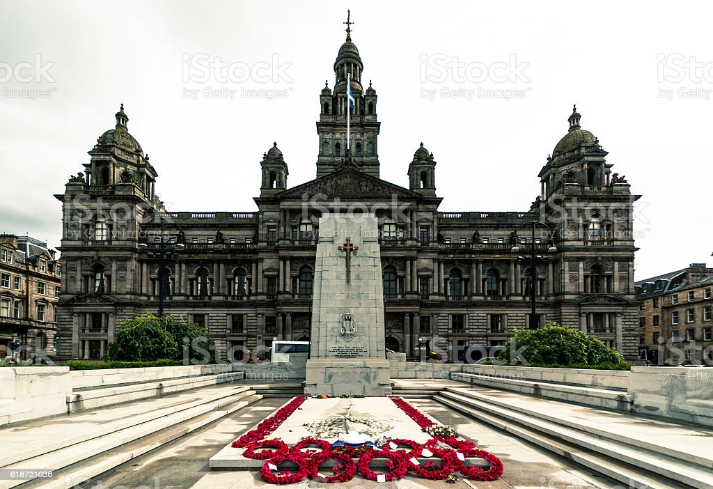 Glasgow Cenotaph stock photo