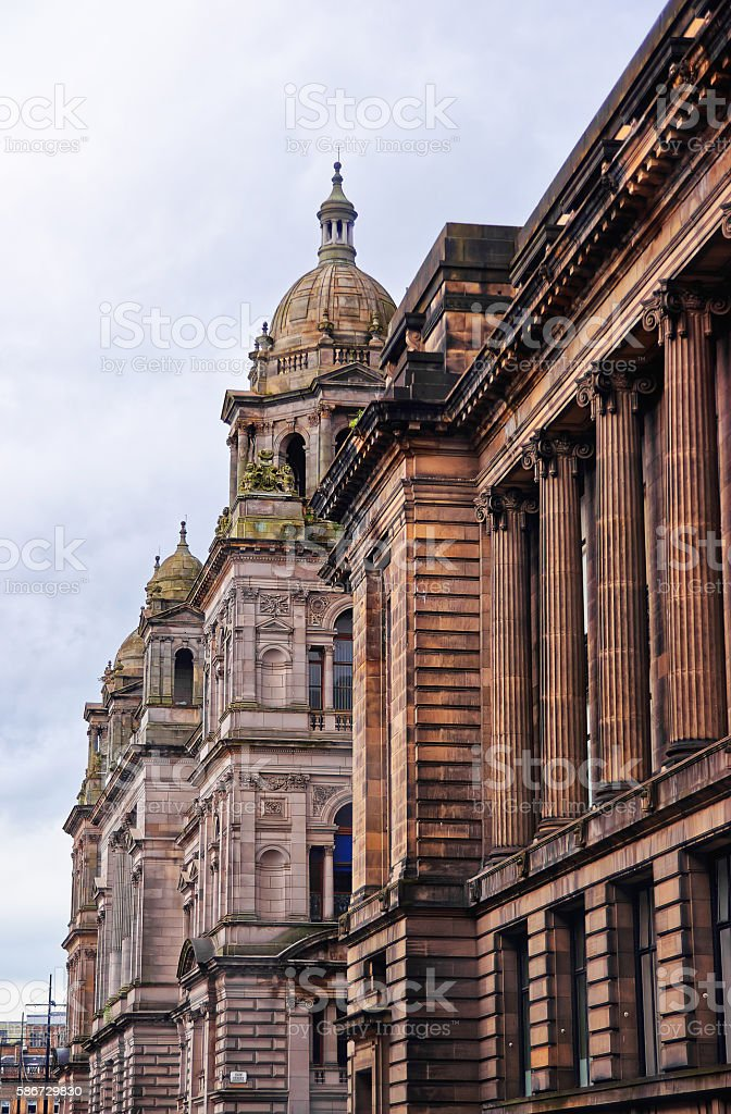 Glasgow City Chambers in George Square in Merchant city stock photo