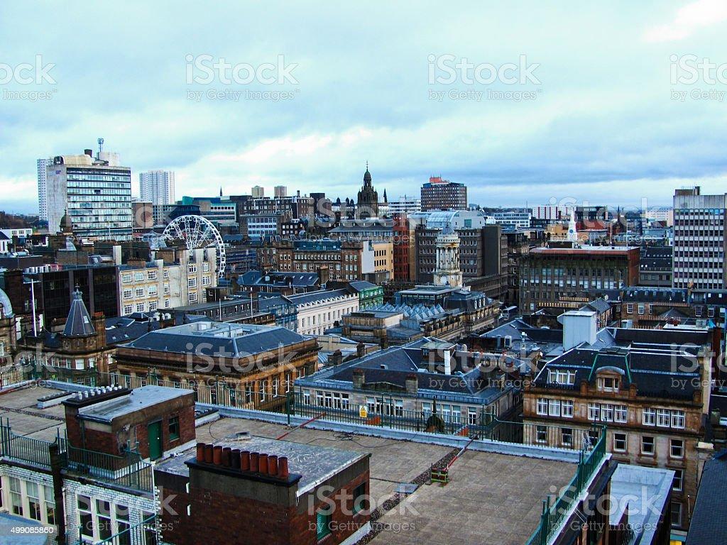 Glasgow city skyline on a winter day stock photo