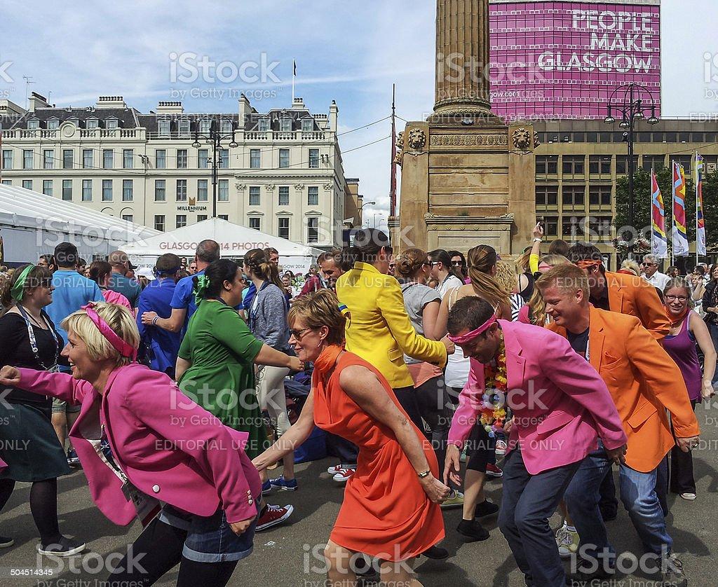 Glasgow Flashmob performance stock photo