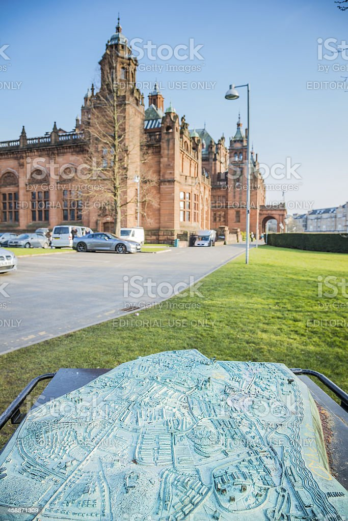 Glasgow Map at the Kelvingrove Museum and Gallery stock photo