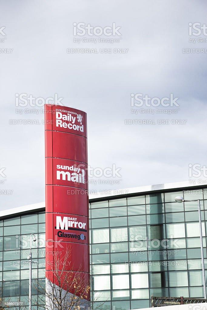 Glasgow Newspaper Headquarters stock photo