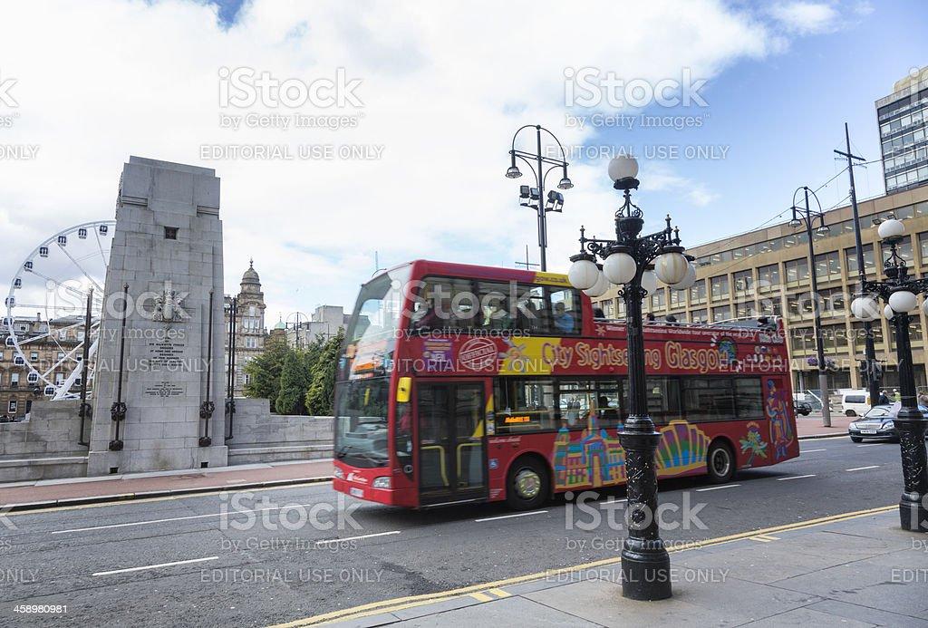 Glasgow Sightseeing Tour Bus royalty-free stock photo