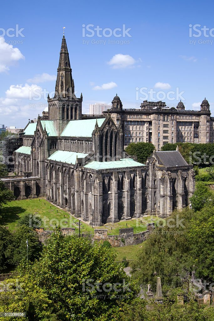 Glasgow St Mungo's Cathedral and Necropolis Graveyard stock photo