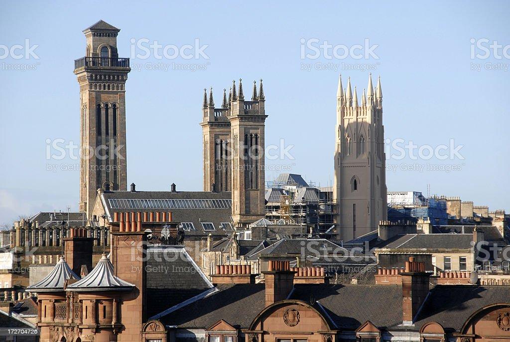 Glasgow Trinity Tower 2 stock photo