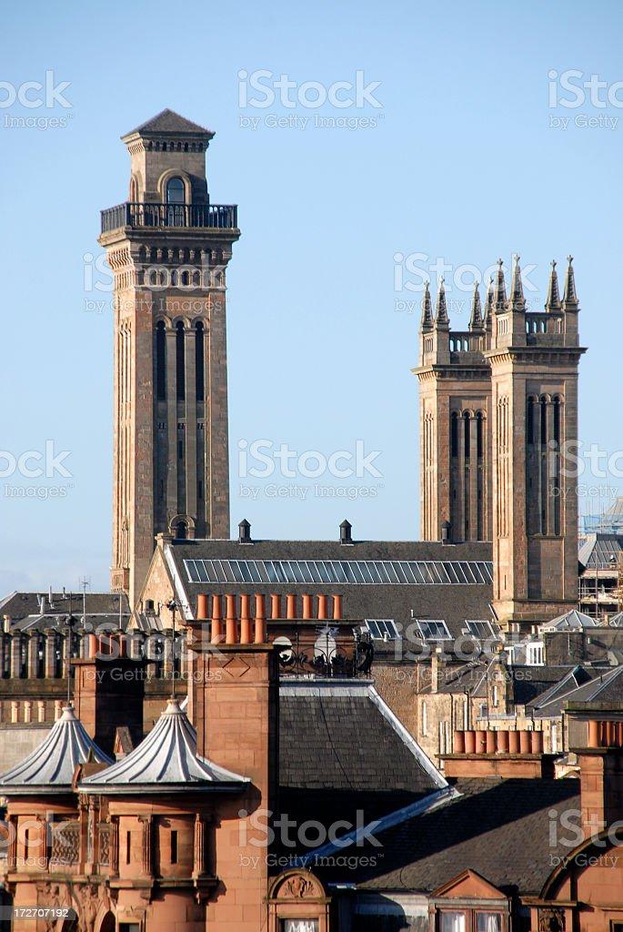 Glasgow Trinity Tower stock photo