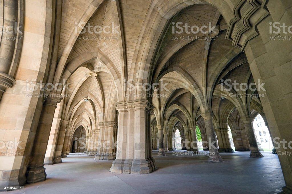 Glasgow University Cloisters royalty-free stock photo