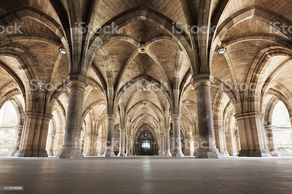 Glasgow University Cloisters royalty-free stock photo