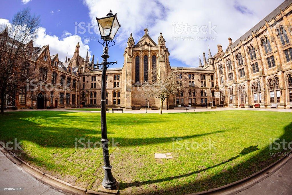 Glasgow University - West Quadrangle stock photo