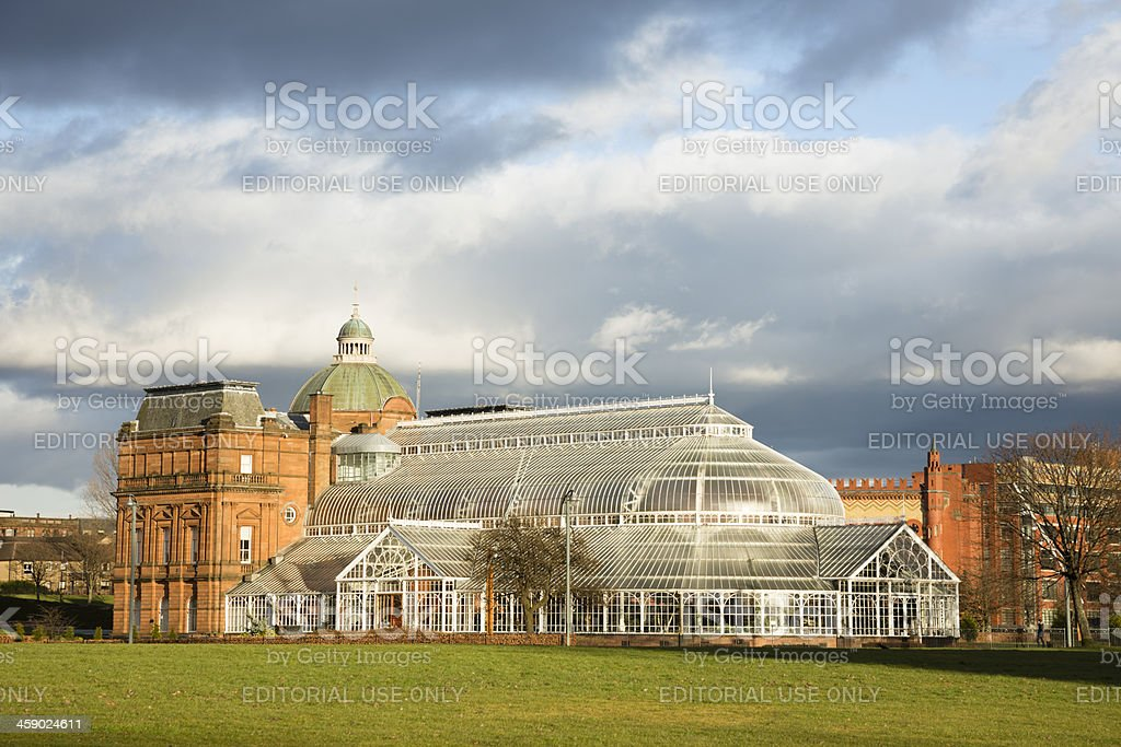Glasgow Winter Gardens and People's Palace stock photo