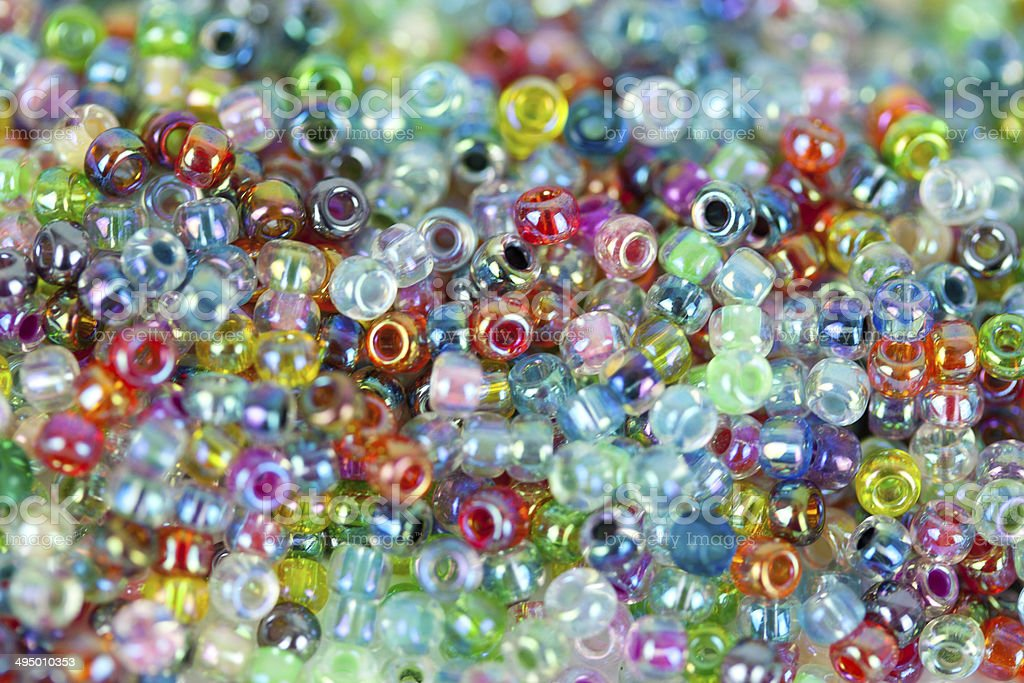 Glasperlen bunt stock photo