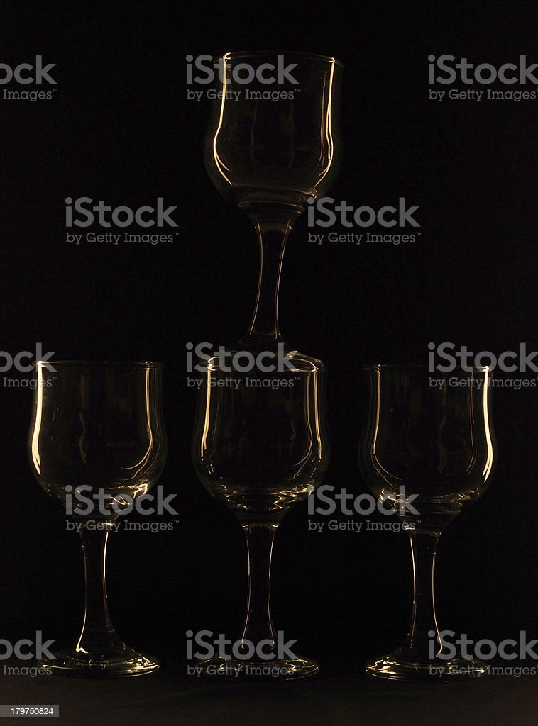 glass against a dark background royalty-free stock photo