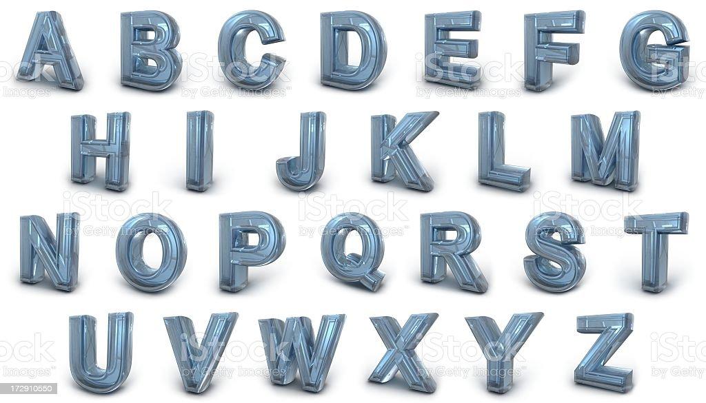 Glass Alphabet stock photo