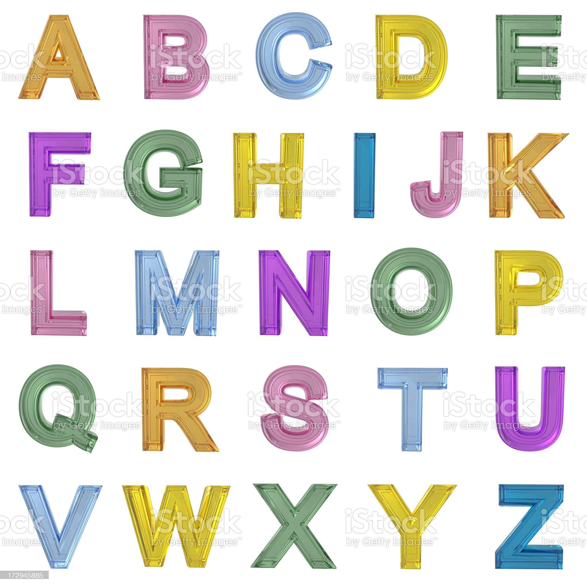 Glass Alphabet royalty-free stock photo