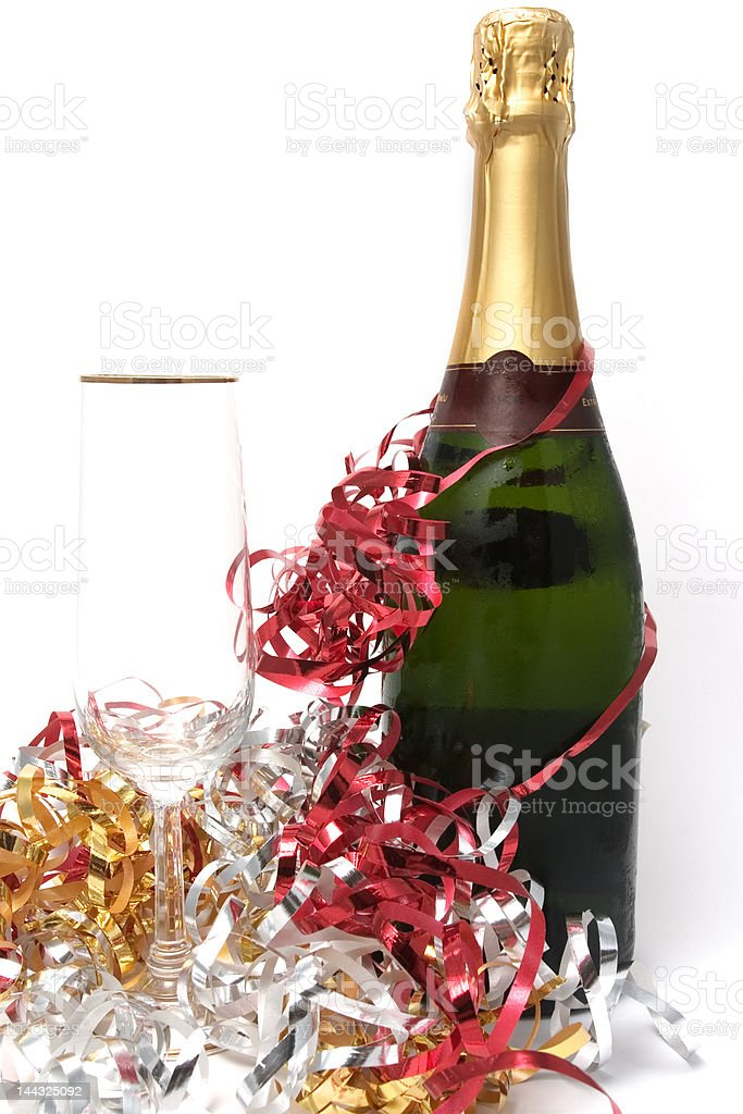 glass and bottle royalty-free stock photo