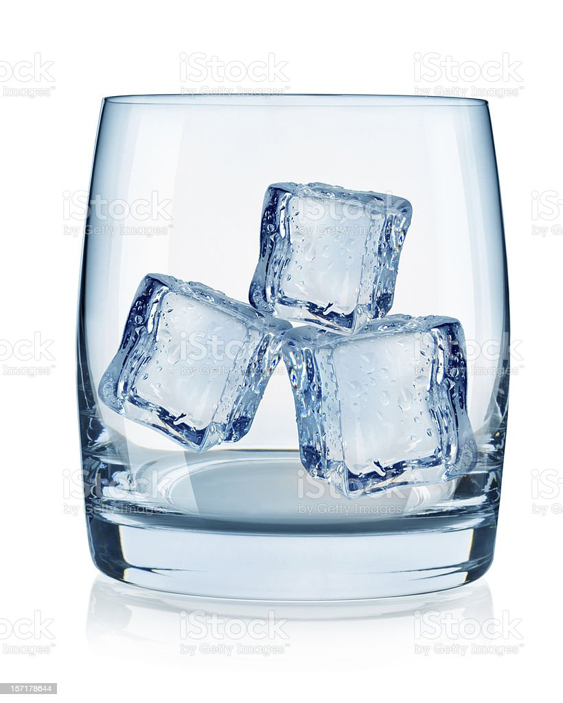 Glass and ice cubes royalty-free stock photo