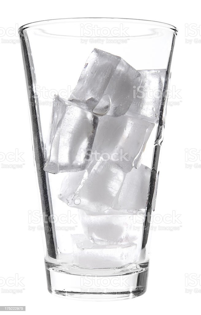 Glass and ice royalty-free stock photo