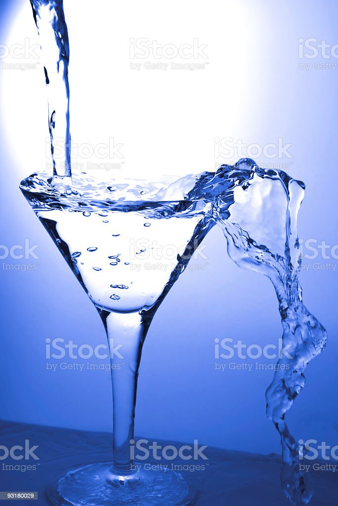 Glass and martini royalty-free stock photo