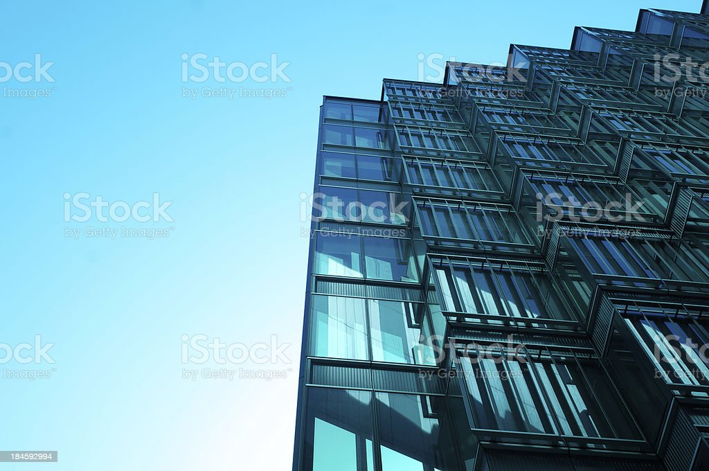 Glass and sky royalty-free stock photo