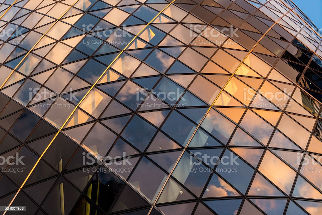 Glass and Steel Building Exterior stock photo