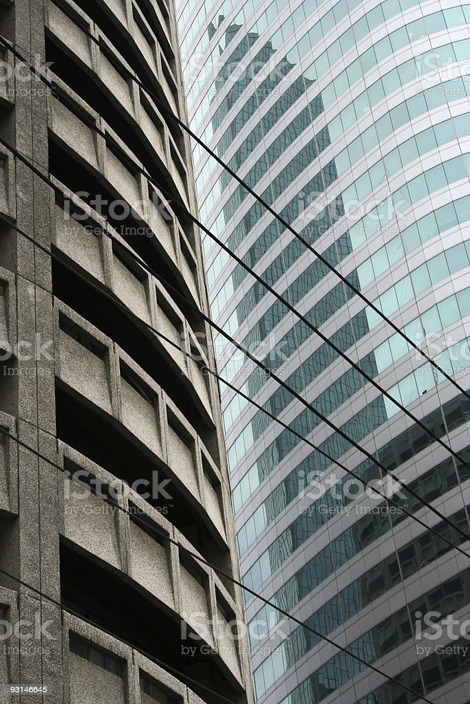 glass and steel manila city block royalty-free stock photo