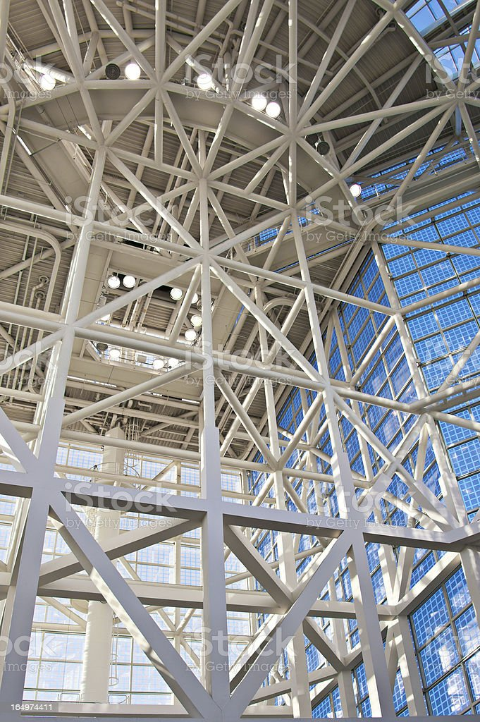 Glass and Steel Modern Architecture Convention center Interior royalty-free stock photo