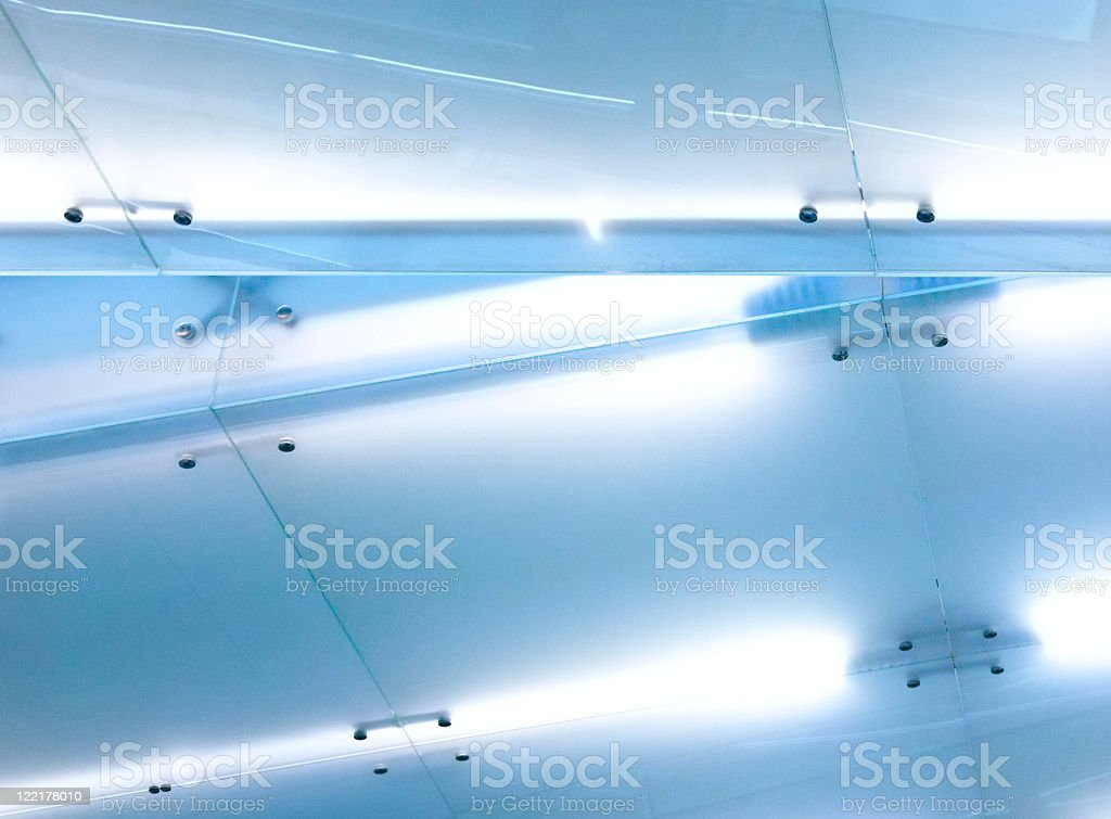 Glass and steel modern architecture detail royalty-free stock photo
