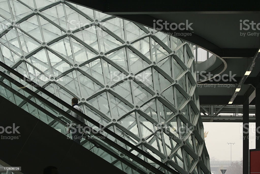 Glass and steel structure in Milano new fair royalty-free stock photo