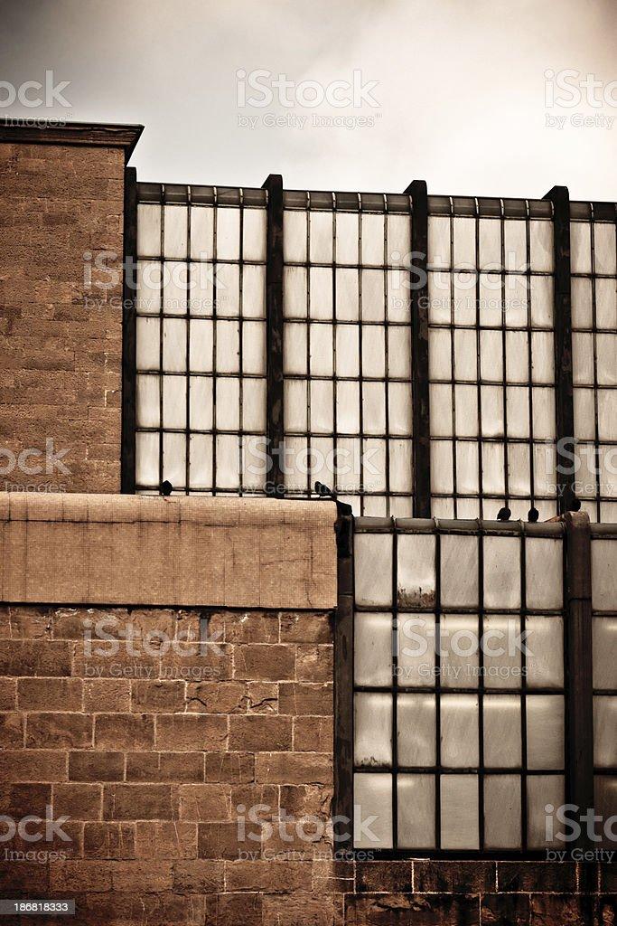 Glass and Stone Facade, Italian Modern Architecture stock photo