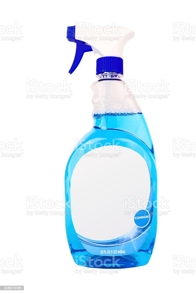 Glass and Window Cleaner stock photo