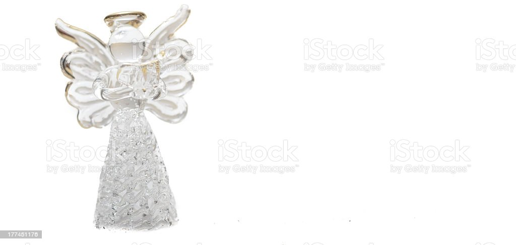 Glass angel royalty-free stock photo